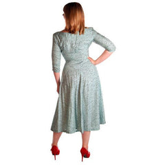 Vintage Circle Dress 1950s Turquoise & Black Full 40-28-Free - The Best Vintage Clothing  - 3