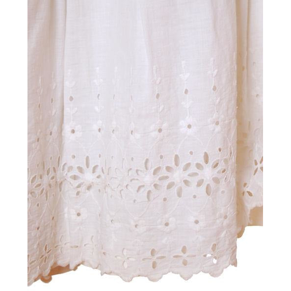 Victorian White Long Chemise Butterflies Micro Crochet Yoke Small - The Best Vintage Clothing  - 6