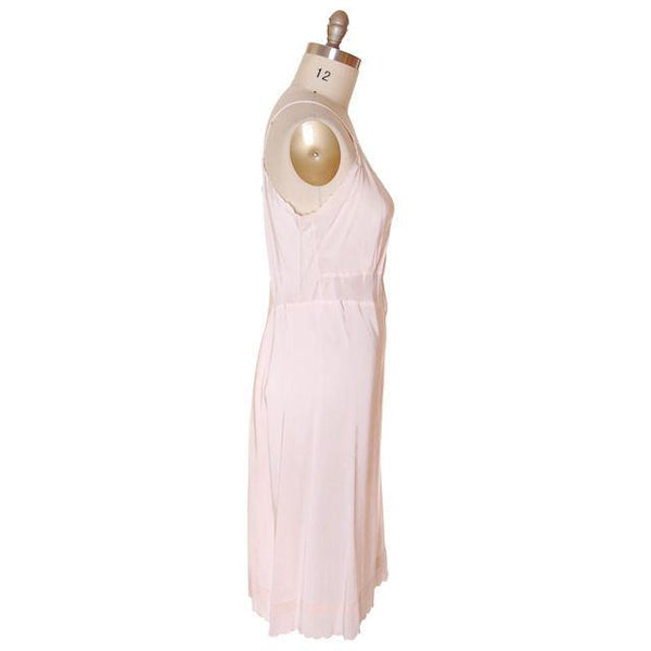 Vintage Full Slip Peach Bias Cut 40 Laros 1940s Rayon/ Acetate - The Best Vintage Clothing  - 2