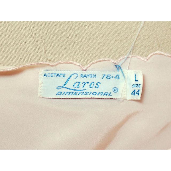 Vintage Full Slip Peach Bias Cut 40 Laros 1940s Rayon/ Acetate - The Best Vintage Clothing  - 5