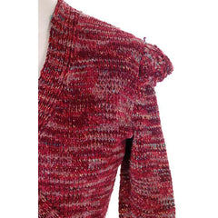 Vintage Wrap  Sweater Flavia Des Granges Fab Metallics Cranberry 1980s M - The Best Vintage Clothing  - 4