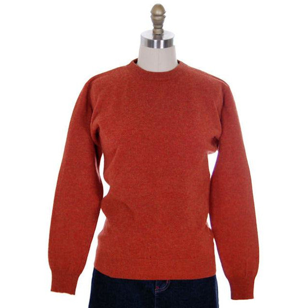 Vintage Sweater Cashmere 2ply Lord &Taylor Rust Color M 1980s - The Best Vintage Clothing  - 1