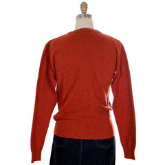 Vintage Sweater Cashmere 2ply Lord &Taylor Rust Color M 1980s - The Best Vintage Clothing  - 3