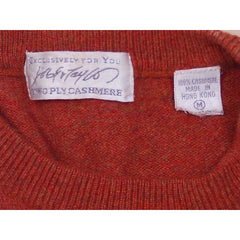 Vintage Sweater Cashmere 2ply Lord &Taylor Rust Color M 1980s - The Best Vintage Clothing  - 5