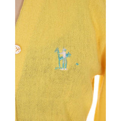 Vintage  Orlon Cardigan Yellow Golf Embroidery  M 1960s Haymaker - The Best Vintage Clothing  - 5