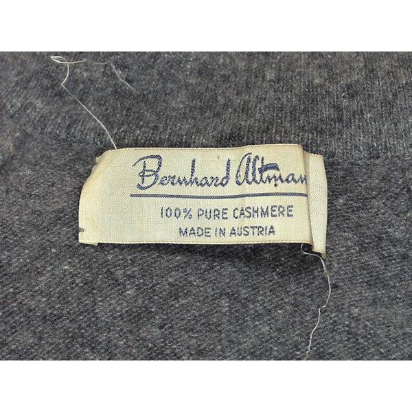 Vintage Cashmere Sweater Ladies Heather Gray B. Altman Shawl 1950s Small- Med - The Best Vintage Clothing  - 7