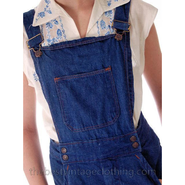Vintage 1970s  Overalls Blue Denim 100% Cotton Womens Large - The Best Vintage Clothing  - 3