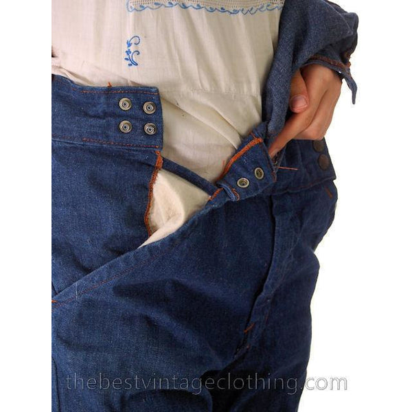 Vintage 1970s  Overalls Blue Denim 100% Cotton Womens Large - The Best Vintage Clothing  - 5