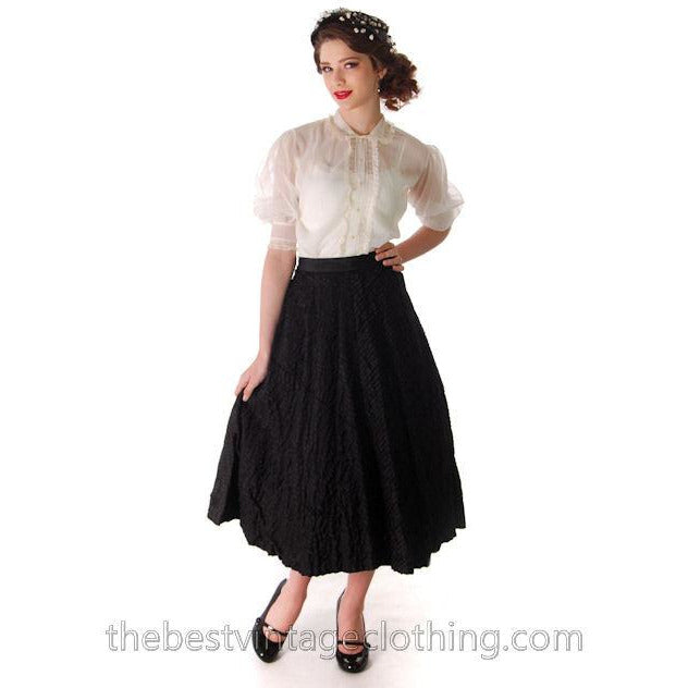 Vintage 1940s Full Ribbon Skirt Smart Set Small 26 Waist - The Best Vintage Clothing  - 1