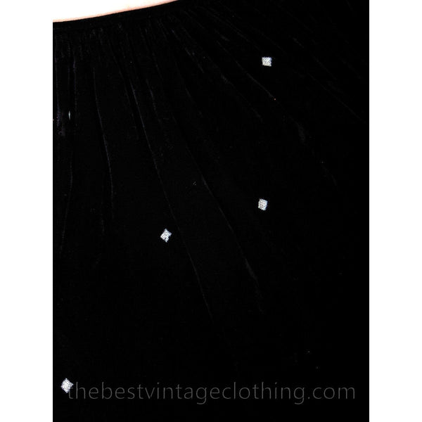Stunning 1970s Vuokko Suomi Finland Black  Velvet Gown Diamond Pattern 1930s Style S-L - The Best Vintage Clothing  - 8