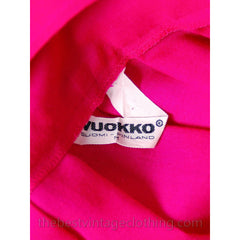 Stunning Vintage 1970s Vuokko Gown Fuchsia Pink Wool Voile Long Voluminous M - The Best Vintage Clothing  - 7