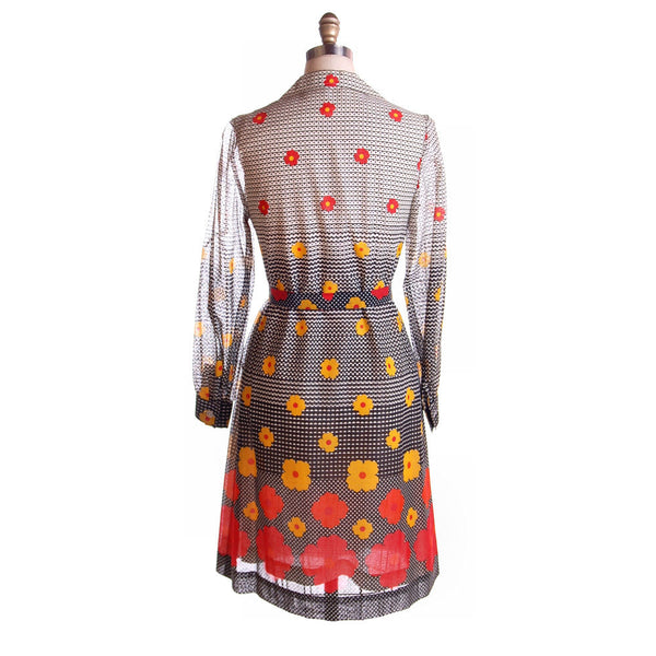 Vintage Dress Op Art J. Tiktiner France 1970s - The Best Vintage Clothing  - 3