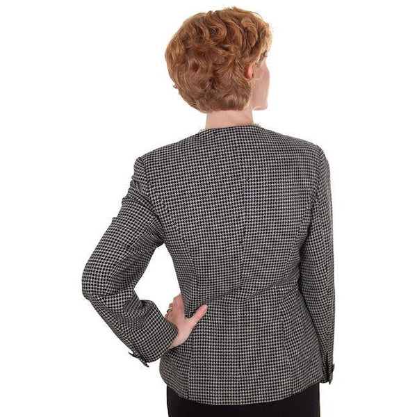 Vintage Ladies Herringbone Tweed Wool Peplum  Blazer Guy Laroche 1980s - The Best Vintage Clothing  - 4