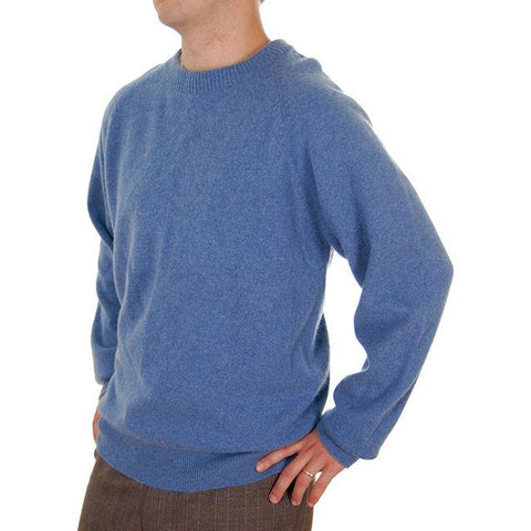 Vintage Mens Cashmere Pullover Sweater Snow Lotus Periwinkle  Size 46 - The Best Vintage Clothing  - 1