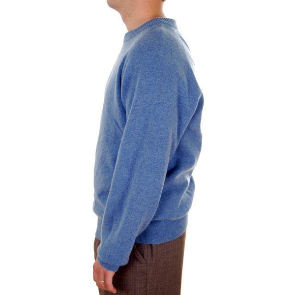 Vintage Mens Cashmere Pullover Sweater Snow Lotus Periwinkle  Size 46 - The Best Vintage Clothing  - 3