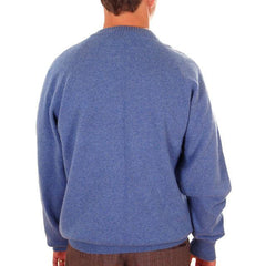 Vintage Mens Cashmere Pullover Sweater Snow Lotus Periwinkle  Size 46 - The Best Vintage Clothing  - 2
