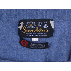 Vintage Mens Cashmere Pullover Sweater Snow Lotus Periwinkle  Size 46 - The Best Vintage Clothing  - 4