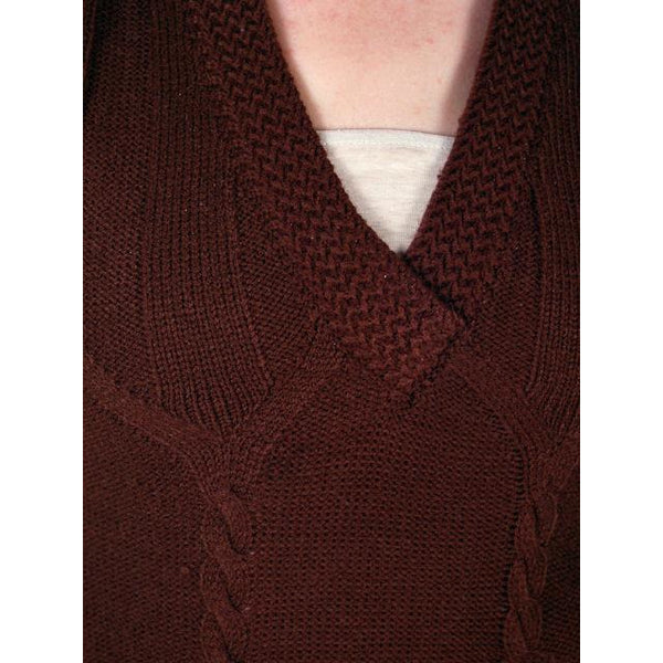 Vintage  Sweater Vest Chocolate Brown Fitted V Neck Small 1970s - The Best Vintage Clothing  - 4