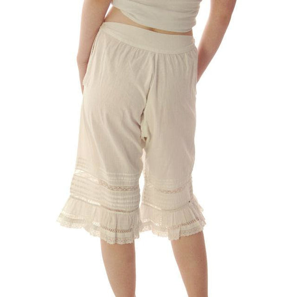 "Vintage Antique Ladies Bloomers White Cotton Fancy 26"" Waist Small - The Best Vintage Clothing  - 3"