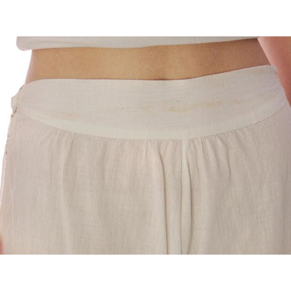 "Vintage Antique Ladies Bloomers White Cotton Fancy 26"" Waist Small - The Best Vintage Clothing  - 4"