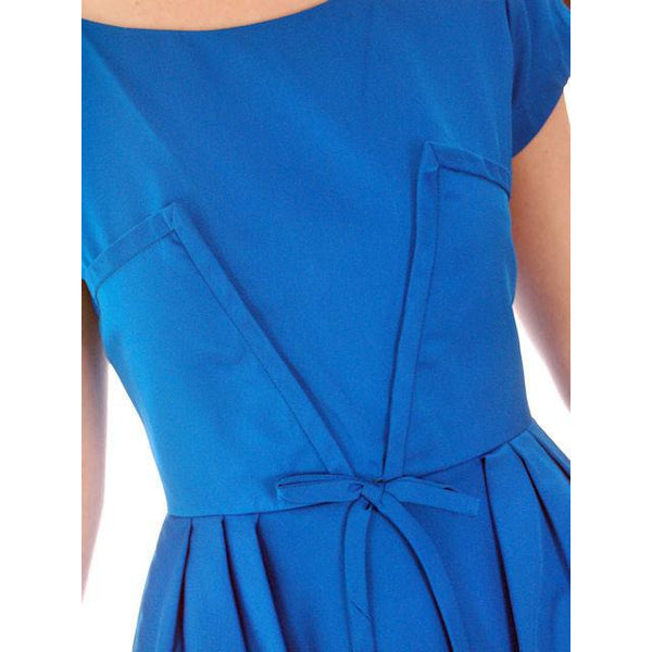 Vintage Electric Blue Hobble Dress 1950s  34-26-38 - The Best Vintage Clothing  - 5