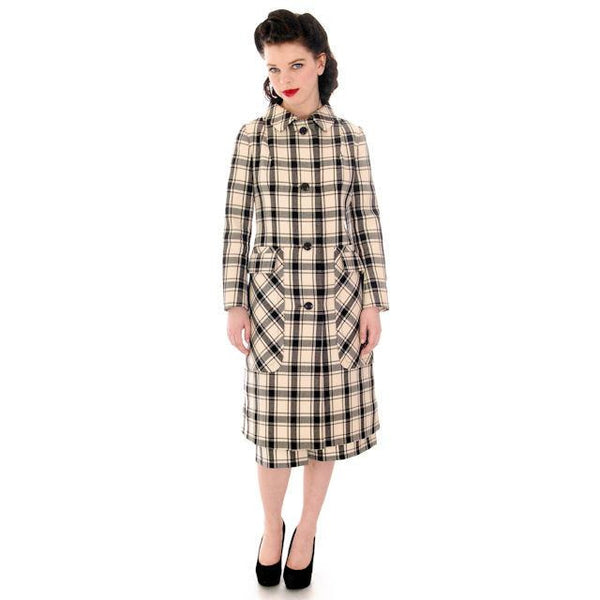 Vintage Suit Sybil Connolly Dublin Black/White Huge Plaid /Huge Pockets 1960s 38-26-38 - The Best Vintage Clothing  - 3