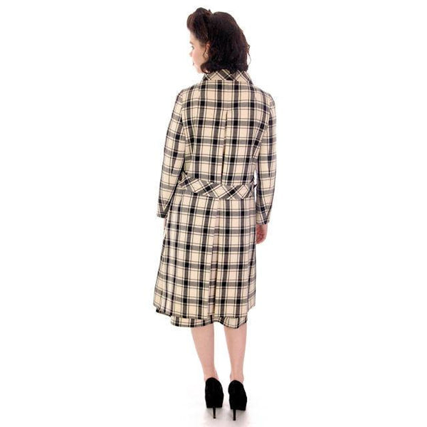 Vintage Suit Sybil Connolly Dublin Black/White Huge Plaid /Huge Pockets 1960s 38-26-38 - The Best Vintage Clothing  - 4