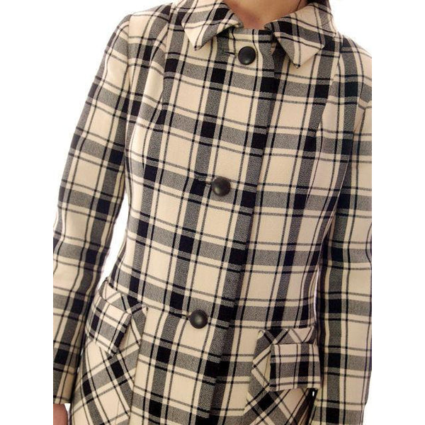 Vintage Suit Sybil Connolly Dublin Black/White Huge Plaid /Huge Pockets 1960s 38-26-38 - The Best Vintage Clothing  - 7