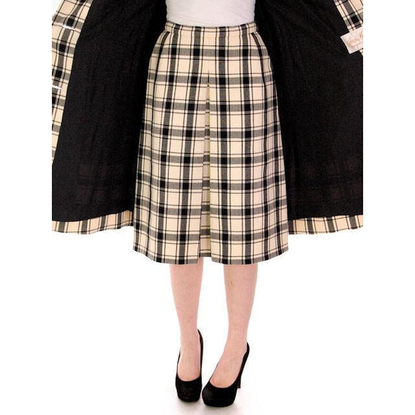 Vintage Suit Sybil Connolly Dublin Black/White Huge Plaid /Huge Pockets 1960s 38-26-38 - The Best Vintage Clothing  - 5