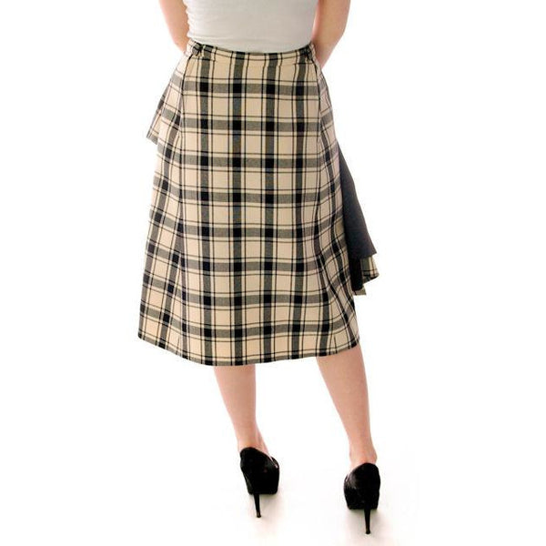 Vintage Suit Sybil Connolly Dublin Black/White Huge Plaid /Huge Pockets 1960s 38-26-38 - The Best Vintage Clothing  - 6
