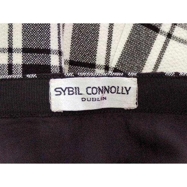 Vintage Suit Sybil Connolly Dublin Black/White Huge Plaid /Huge Pockets 1960s 38-26-38 - The Best Vintage Clothing  - 2