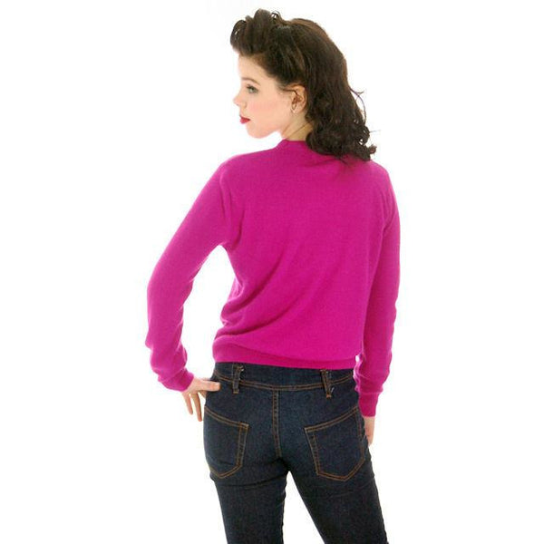 Vintage Orlon Sweater Fuchsia Color Long Sleeve Donna Dean 1950s - The Best Vintage Clothing  - 2
