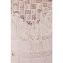 Victorian White Lawn  Lace Fancy Ladies Summer/Wedding  Dress 34-20-Free - The Best Vintage Clothing  - 9