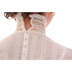 Victorian White Lawn  Lace Fancy Ladies Summer/Wedding  Dress 34-20-Free - The Best Vintage Clothing  - 8