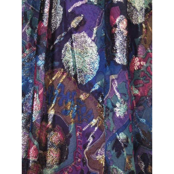 Vintage Metallic Silk Chiffon Designer Gown Hartley Westwood 1970S 34-30-36 1970s - The Best Vintage Clothing  - 5