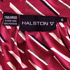 Vintage Halston Skirt Blouse Set Suit 1980'S Black/White Sz 8 - The Best Vintage Clothing  - 6