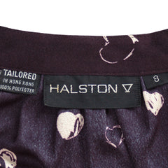 Vintage Halston Skirt Blouse Set Suit 1980'S Black/White Sz 8 - The Best Vintage Clothing  - 4