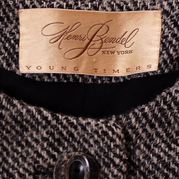 Vintage Wool Ladies Tweed Suit Henri Bendel Black & White 1960S 40-30-44 - The Best Vintage Clothing  - 5