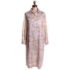 Vintage Shift Dress Margaret Smith  Pastels Print 1960s L - The Best Vintage Clothing  - 5