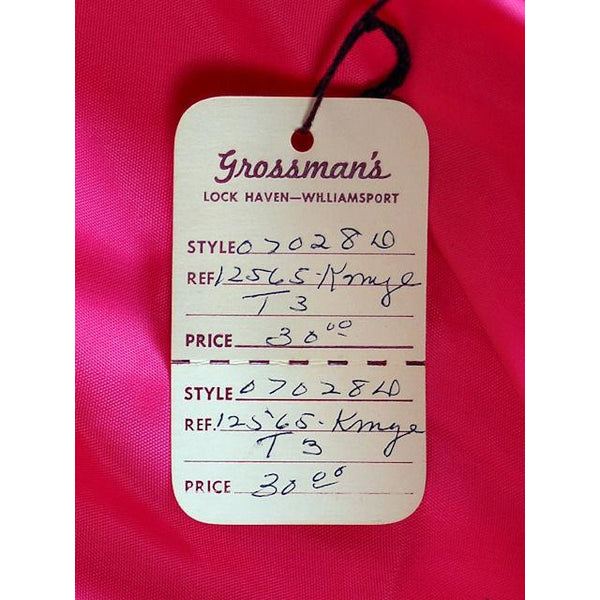 Vintage Dress Pink Linen 2 PC  Susan Thomas 1960s NOS 4 - The Best Vintage Clothing  - 5