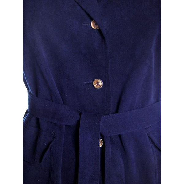 Vintage Womens Navy Blue Ultrasuede Coat Rosenblums  1970s Medium - The Best Vintage Clothing  - 6