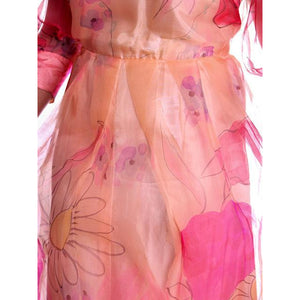 Vintage Annie Corvall Silk Chiffon Fantasy Evening Gown 1980s Pinks Floaty 10-12 - The Best Vintage Clothing  - 1