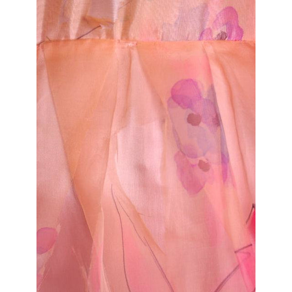 Vintage Annie Corvall Silk Chiffon Fantasy Evening Gown 1980s Pinks Floaty 10-12 - The Best Vintage Clothing  - 2