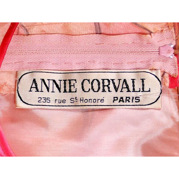 Vintage Annie Corvall Silk Chiffon Fantasy Evening Gown 1980s Pinks Floaty 10-12 - The Best Vintage Clothing  - 5