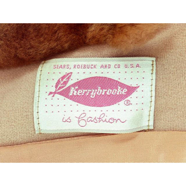 Vintage Ladies Jacket Peach Wool w. Mouton Shawl Collar  Late1940s Large - The Best Vintage Clothing  - 5