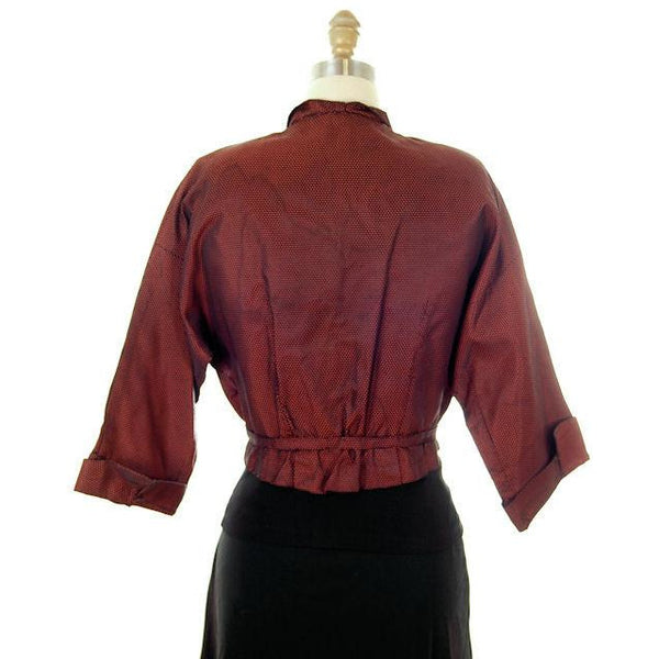 Vintage Changeable Silk Blouse Amazing Buttons 1930s Provenance Med Sonja Loew - The Best Vintage Clothing  - 5