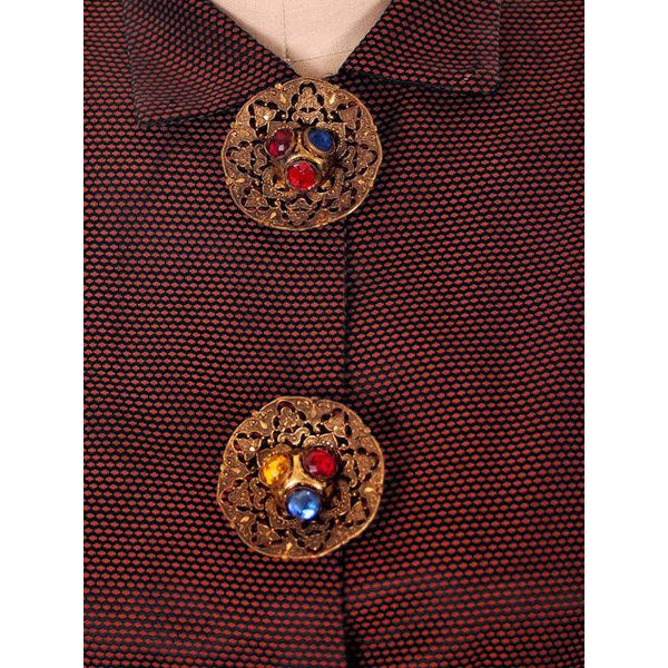 Vintage Changeable Silk Blouse Amazing Buttons 1930s Provenance Med Sonja Loew - The Best Vintage Clothing  - 4