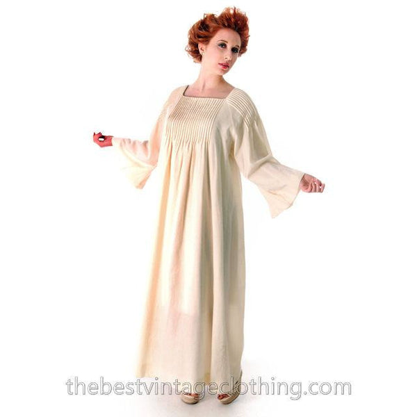 Vintage Marimekko Ivory Wool Maxi Gown Wedding? 1970s  Xsmall - The Best Vintage Clothing  - 2