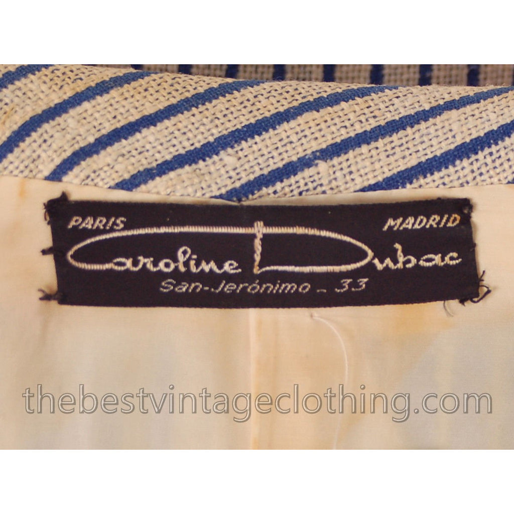 d2bdcd815a4 Vintage Linen Dress Jacket 1940 S Caroline Dubac – The Best Vintage ...