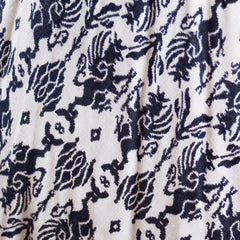 Vintage Circle Skirt Black & White Dragon Print 1950'S 26 Waist Daisy's of Miami - The Best Vintage Clothing  - 4